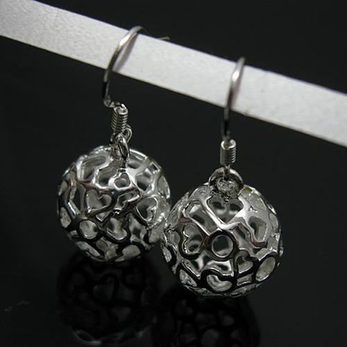925 E12080 Прекрасни дамски обици с високо съдържание на Сребро 925 Сфери