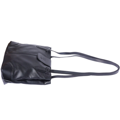 Чанта Естествена Кожа ФРАНЧЕСКА, FLORENCE, черен цвят, Код FL0151A