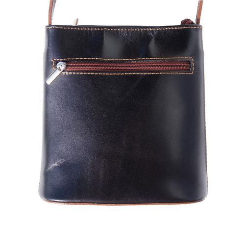 Чанта Естествена Кожа ПОМПЕА, FLORENCE, черен/кафяв цвят, Код FL2035