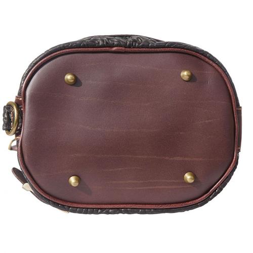 Чанта Естествена Кожа ЛОМБАРДИЯ, FLORENCE, черен/кафяв цвят, Код FL300S3A