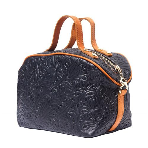 Чанта Естествена Кожа ДОМЕНИКА, FLORENCE, черен/кафяв цвят, Код FL3019A