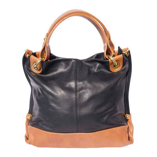 Чанта Естествена Кожа СОРЕНТО, FLORENCE, черен/кафяв цвят, Код FL80054A