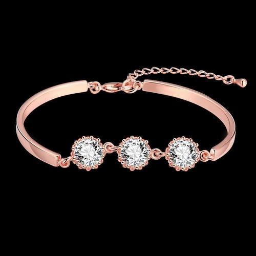 Гривна СИЕНА КРИСТАЛ с розово златно покритие, Zerga Brand,  Код 18KG B02139-B