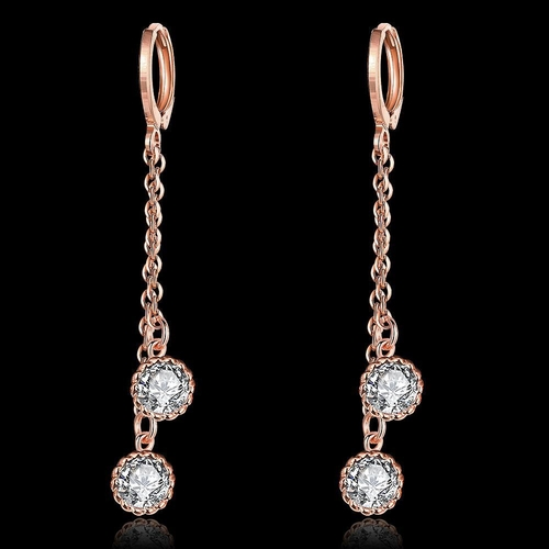 Обеци СИЕНА с розово златно покритие, Zerga Brand, Код 18KG E01714-B