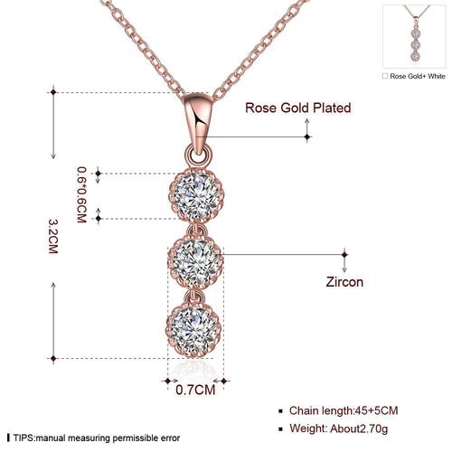 Колие СИЕНА с Австрийски кристали и 18К Розово Злато, Колекция Zerga Brand, Код 18KG N14221-B