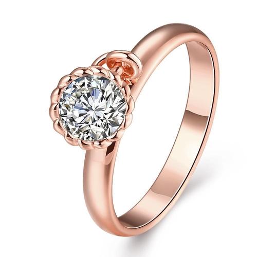 Пръстен СИЕНА с розово златно покритие, Zerga Brand, Код 18KG R41017-B