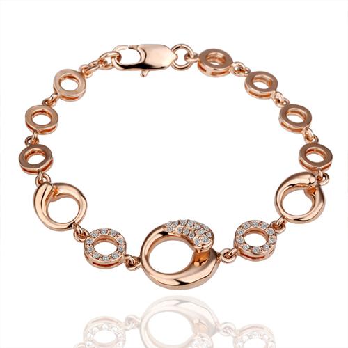 18KG B03177 Гривна КРИСТАЛ РИНГС, Zerga Collection, розово златно покритие