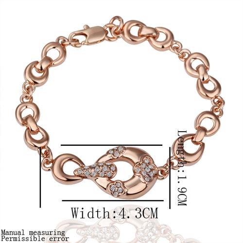 18KG S14297 Колие, oбици и гривна KРИСТАЛ РИНГС! Zerga Jewelry, розово златно покритие