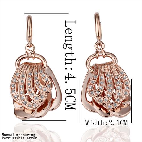 18KG S03784 Комплект бижута ЗЛАТНА МИДА - Zerga Brand - розово златно покритие. Колие, обеци, гривна