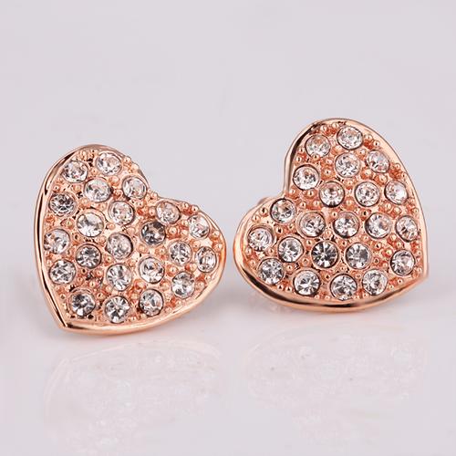 18KG E06933 Обици ОБИЧАМ ТЕ - Zerga Jewelry