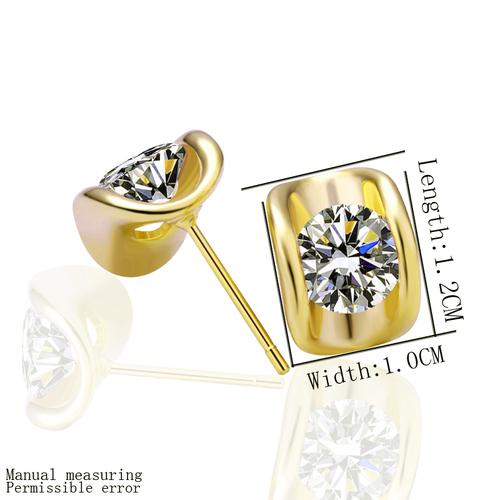 18KG E27698 Обици БЛЯСЪК, жълто злато, Zerga Collection