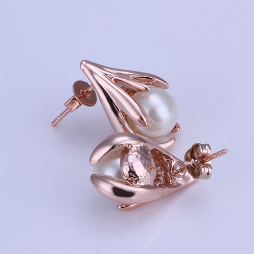 18KG E34376 Стилни дамски обици ПЕРЛА АРТ от колекция Zerga Jewelry