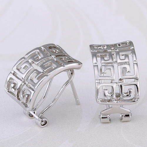 Обeци ЛАБИРИНТ НЮ, 18К бяло злато, колекция Zerga Brand, Код 18KG E91017