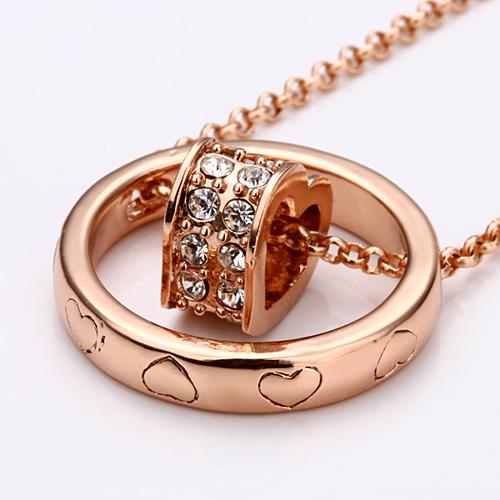 18KG N08228 Колие МОЕТО СЪРЦЕ, Zerga Jewelry, розово златно покритие