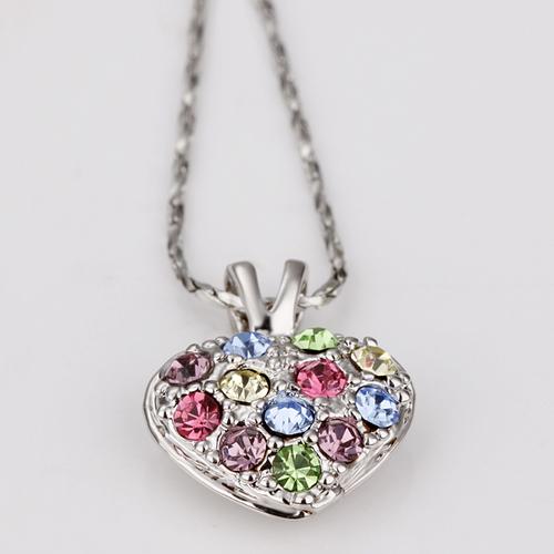 18KG N12477 Колие СЪРЦЕ НАГИРА - Zerga Jewelry