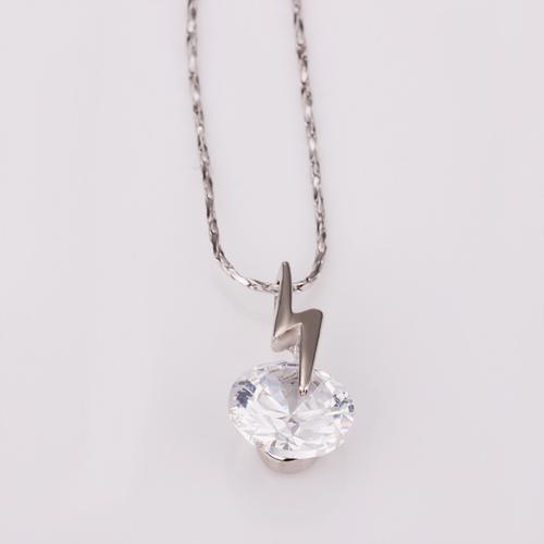 18KG N14969 Колие БЛЯСКАВ ГРЪМ, Zerga Jewelry - бяло златно покритие