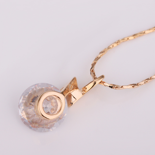 18KG N24098 Колие БЛЯСКАВ ГРЪМ - Zerga Jewelry - жълто златно покритие