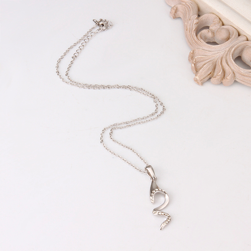 18KG N69713 Колие ФОРМА, Zerga Jewelry - бяло златно покритие