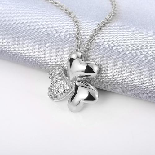Колие СТИЛИЗИРАНИ СЪРЦА, Zerga Jewelry, 18KG N81916-C