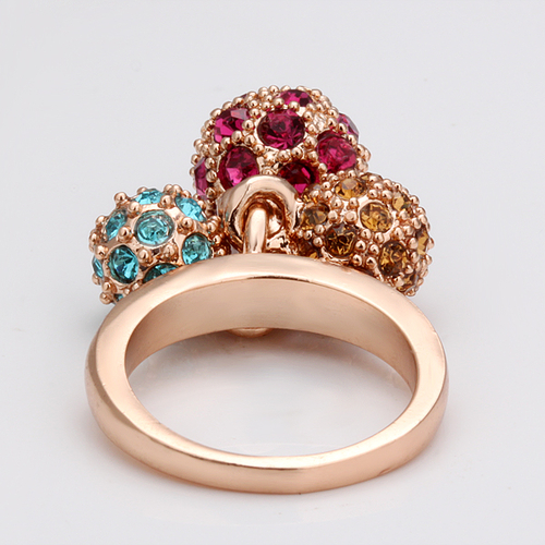18KG R08114 Дамски пръстен ЦВЕТНИ СФЕРИ - Zerga Jewelry
