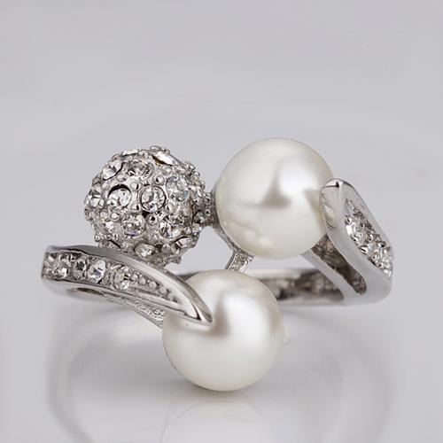 18KG R09805 Дамски пръстен Перлени Топчета - Zerga Jewelry