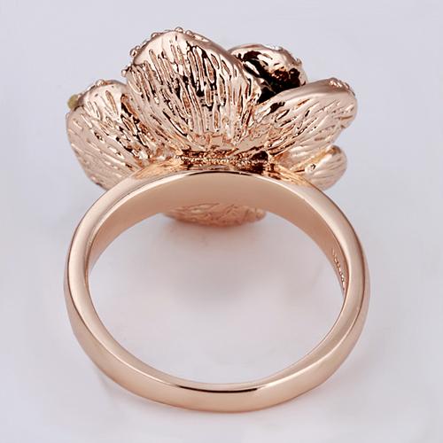 18KG R02849 Пръстен НЕЖНА РОЗА - Zerga Jewelry - розово златно покритие