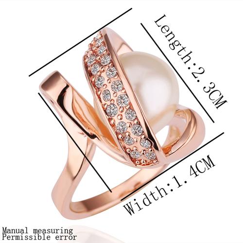 18KG R14690 Дамски пръстен НЕЖНА ПЕРЛА! Zerga Jewelry - розово златно покритие