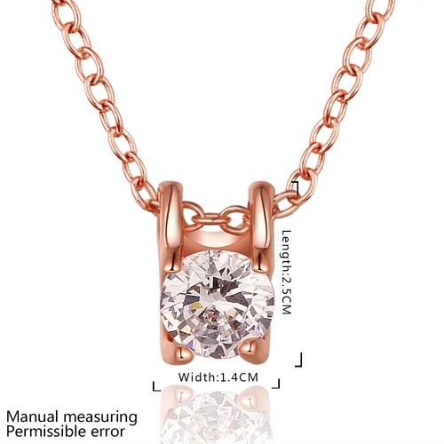 Колие ВЕЛЛА с Австрийски кристали и 18К Розово Злато, Колекция Zerga Brand, Код 18KG N83091-B