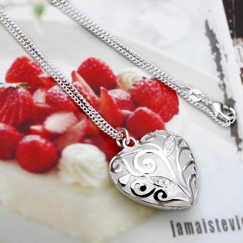 925 N20214 Впечатляващо колие - Седефено Сърце