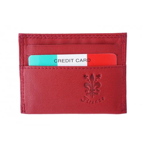 Калъф за документи Естествена Кожа ПАРМА, FLORENCE, червен цвят, Код FL PC0754