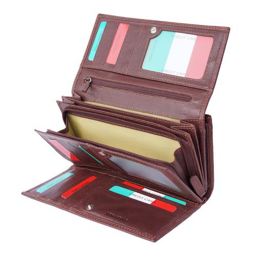 Портфейл Естествена Кожа ИПОДРОМО, FLORENCE, кафяв цвят, Код FL PF0120