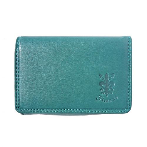Портмоне Естествена Кожа ВИОЛАНТЕ, FLORENCE, синьо-зелен цвят, Код FL PF0606