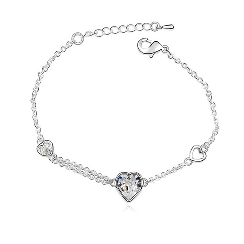 Гривна SWAROVSKI® SWEET HEART Crystal AB, Бял, Код PR B003