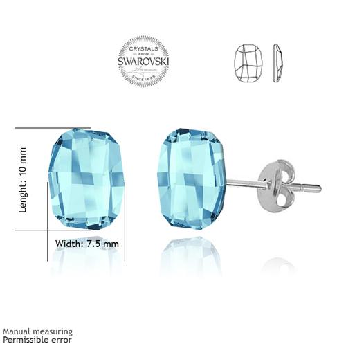Обеци SWAROVSKI® GRAPHIC 10мм Aquamarine AB - Светло син, Код PR E060