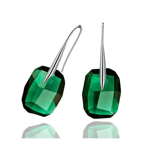 Обеци SWAROVSKI® GRAPHIC 19мм Emerald, Зелен, Код PR E064A
