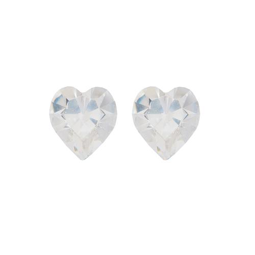 Обеци SWAROVSKI® SWEET HEART Crystal 6 мм, Бял цвят Код PR E202