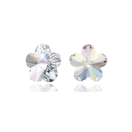 Обеци SWAROVSKI® FLORAL Crystal AB, Бял, Код PR E203