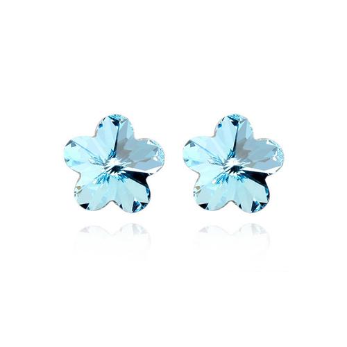 Бижута SWAROVSKI® HEAVEN  Aquamarine AB - Светло син, Колие с обеци,  Код PR S128