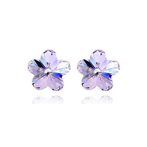 Обеци SWAROVSKI® FLORAL Violet AB - Светло лилав, Код PR E205