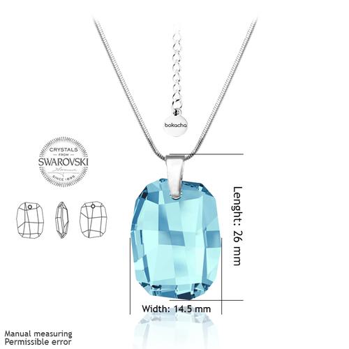 Колие SWAROVSKI® GRAPHIC 19мм Aquamarine AB - Светло син, Код PR N060