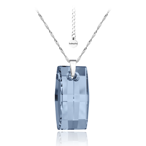 Колие SWAROVSKI® URBAN 20мм Denim Blue - Син, Код PR N090