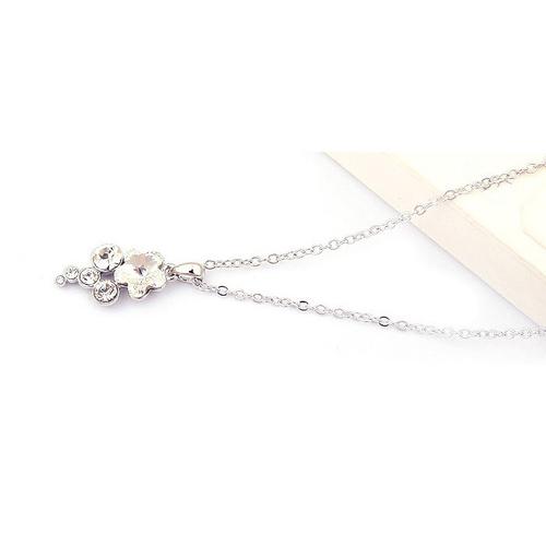 Колие SWAROVSKI® FLORAL Crystal AB, Бял, Код PR N117