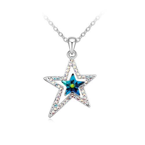 Колие SWAROVSKI® BRIGHT STAR Vitrail Medium** VM, Зелен, Код PR N122