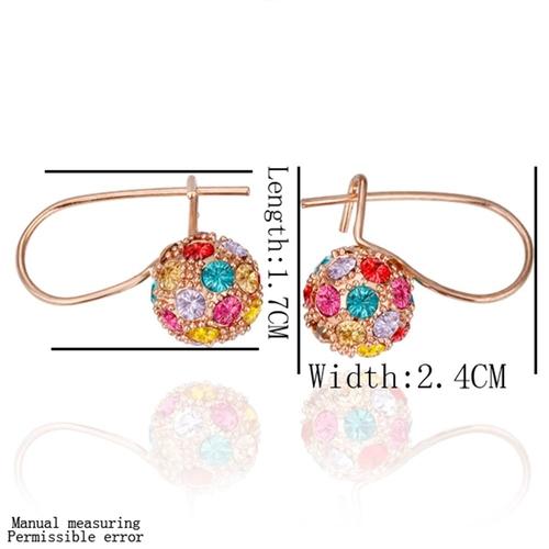 Бижута ЦВЕТНА НАГИРА. Пръстен, колие и обеци oт Zerga Jewelry, розово златно покритие 18KG S15771-A