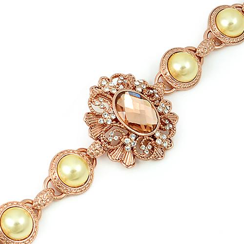 Гривна КАРМЕН с Австрийски кристали и Розово златно покритие, UB Unique Boutique #UB B110