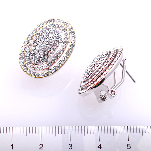 Обеци КОЛИЙН с Австрийски кристали и 18К Златно покритие, UB Unique Boutique #UB E127