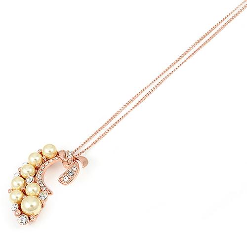 Колие АНИТА със Синтетична перла и 18К Розово злато, Колекция UB Unique Boutique UB N112