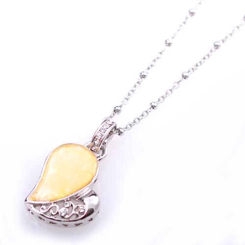 Колие НАДЯ с Бели Austrian crystals и 18К Бяло Злато, UB Unique Boutique #UB N143