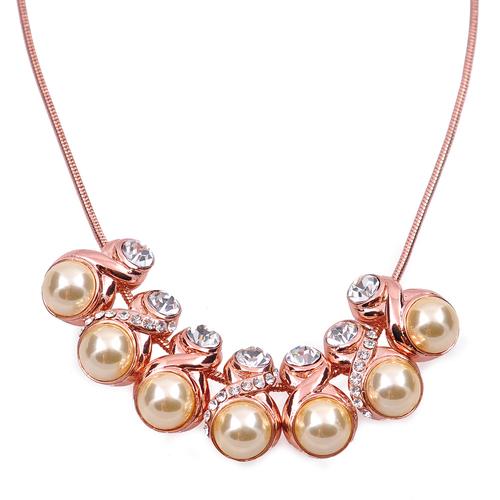 Колие ЕЛЕНА с Austrian crystals и 18К Розово Златно Покритие, UB Unique Boutique, Код UB N173