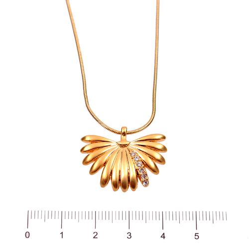 Колие БОРЯНА с Austrian crystals и 18K Жълто Златно Покритие, UB Unique Boutique, Код UB N195